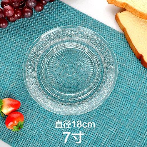Große transparent Glas Teller Obst Teller Kuchenteller 7 inch