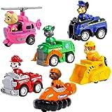 Miotlsy Toy Marshall Rocky Rubble Skye Zuma Chase's Patrol Cruiser Vehicle con Figura da Collezione, per Bambini dai 3 Anni i