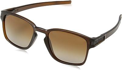 Oakley Mens Latch Squared Sunglasses, Matte Rootbeer/Dark Brown Gradient
