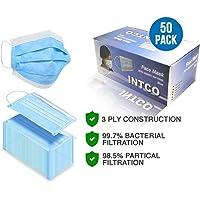 Intco - Type 2R - maschere per il viso - 50 pezzi monouso formato per viso libero, colore: blu