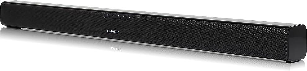 SHARP HT-SB110 2.0 Slim Soundbar mit HDMI, Bluetooth, 90W Gesamtleistung, 80 cm, Schwarz
