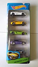 Hot Wheels 1:64 Exotic Die-Cast Toy Car Set (Pack of 5)