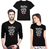 Wild Thunder Father Mother & Child Family 3 Combo (Dad Mom & Kid) Family Together 1024 Cotton Printed Family Full Sleeve V Ne
