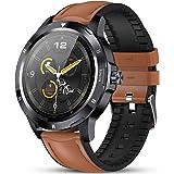 Smartwatch GOKOO Smartwatch Uomo Cardiofrequenzimetro Monitor del Sonno Orologio Intelligente IP68 Impermeabile Tracker Attiv