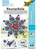 folia 450230 - Fensterfolie farblos, selbsthaftend, ca. 23 x 33 cm, 10 Bogen - ideal als Vorlagebogen für Fensterbilder…