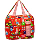 Unique Ideas New Born Baby Multipurpose Polyester Diaper/Mother Bag with Holder Diaper Changing Multi Compartment (Red_Small)