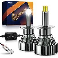 Pulilang Lampadine Auto LED H1 Lampadina per Faro Fascio 360 ° Completo Lampadine per fari a LED Fascio alto- 6 Lati 18…