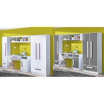 Jugendzimmer Kinderzimmer Komplett Thiago Set A Schrank Standregal