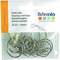 Artemio 14020014 Anneau pour Porte-Clé avec Chaînette-10, Métal, Or, 9 x 2 x 12 cm
