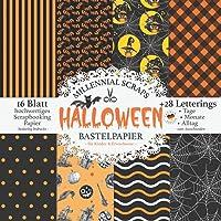 Halloween Bastelpapier – für Kinder & Erwachsene –: Scrapbooking Papier & Zubehör I Motivpapier zum Ausschneiden I Mit…