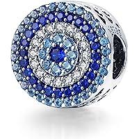 Annmors Charms-Anhänger 925 Sterling Silber Charm Bead Pendant für Europäische Armbänder und Halsketten