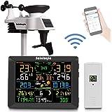 sainlogic FT0300 Professioneel wifi-weerstation, smart wifi, internet, draadloos weerstation met groot kleurendisplay van 8 i