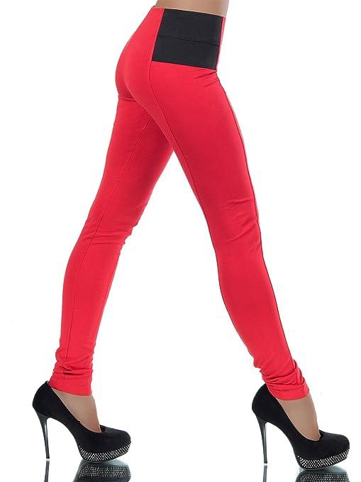 Damen Stretch Hose Stoffhose Treggings Jeggings Leggins Leggings Röhre No 13735