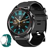 Aney Well Smartwatch, Reloj Inteligente IP68 Impermeable, Reloj Deportivo 1.3 Inch con 15 Deportes, Monitor de Frecuencia Car