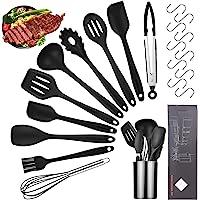 Viesap Ustensiles de Cuisine,11pcs Set spatule en Silicone de qualité Alimentaire,Batterie de Cuisine antiadhésive Anti…