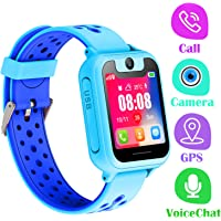 Orologio Telefono GPS Bambini - Smartwatch con GPS LBS Tracker Posiziona Fotocamera Gioco di Matematica Torcia Elettrica…