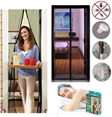 Emndr Magic Mesh Screen Door Net with Magnets Anti-Insects Curtain (Multicolour)