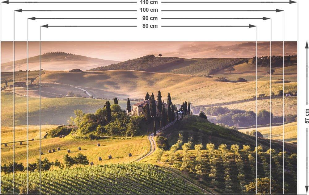 Amazonde Sichtschutz Fensterfolie Farbige Folie Fr Wohnzimmer Toskana Weinberge 80x57cm