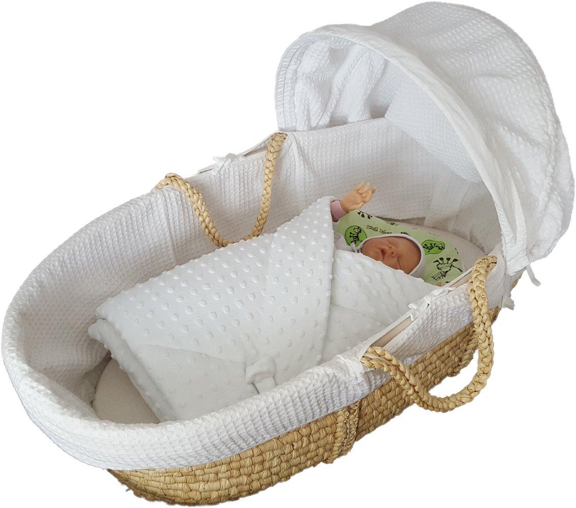 BlueberryShop polar Minky manta reversible para envolver al bebé   Saco de dormir para bebés recién nacidos   Para bebés de 0-3 meses   Regalo perfecto para Baby Shower   78 x 80 cm
