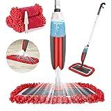 Balai lave sol avec vaporisateur,Winpok Microfibre balais serpillère pour Nettoyage du Sol en Spray Balai de Pulvérisation Ba