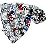 Lorenzo Cana Lussuoso asciugamano da donna in seta con stampa accurata, 100% seta, 110 cm x 110 cm, colori armoniosi, 89043