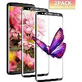 Aonsen Galaxy S8 Plus Verre Trempé [Lot de 2], Film Protection en écran [Résistant aux Rayures][Superhard Dureté 9H] Compatible avec Samsung Galaxy S8 Plus - [Noir]