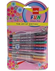 Cello Glitter Pens, Assorted Colours - Pack of 10