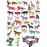 GRAVITY Animal Toys Mini World Animal Set (40 Pcs Set) with Box   Wildlife Model Children Puzzle Early Education Gift…