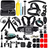 Soft Digits 50 in 1 Action Camera Accessori Kit per GoPro Hero 2018 Hero 7 6 5 4 3 Hero 5 Black, Hero Session YI Campark Akas