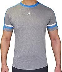 ReDesign Men's Dri-Fast Active Grey Sportswear Tshirt Round Neck
