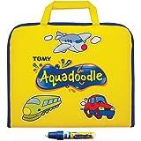 TOMY - Valisette de Dessin Aquadoodle Jaune T72369, Malette Dessin à Eau Sans Taches, Dessin Enfant Format Voyage, Coloriage