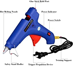 Hot Melt Glue Gun with Free 3 Glue Sticks