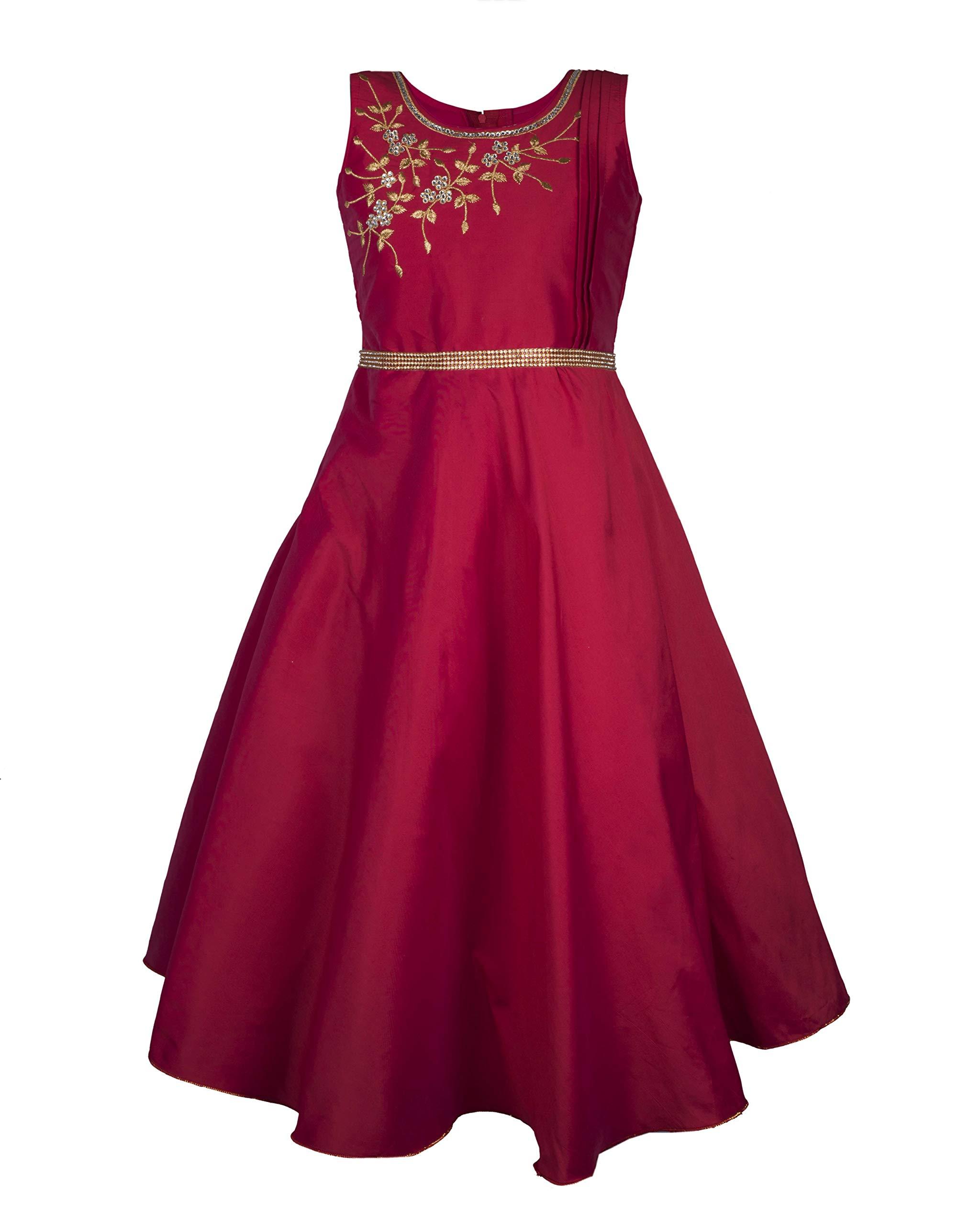 563103fc7eba My Lil Princess Baby Girl's Silk Frock Dress - lali mix india