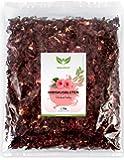 NaturaForte 1000g Hibiskus-Blüten 1a Premiumqualität, Ganze luftgetrocknete Blüten für Hibiskus-Tee im Aroma-Beutel, Ohne künstliche Farbstoffe, Aromen oder Zusätze, Ungeschwefelt