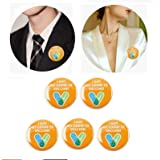 youfenghui 5 PCS I Got My Covid 19 Vaccine Recipient Round Lucky Pinback Button Badges Brooch Pins Notification CDC Encourage