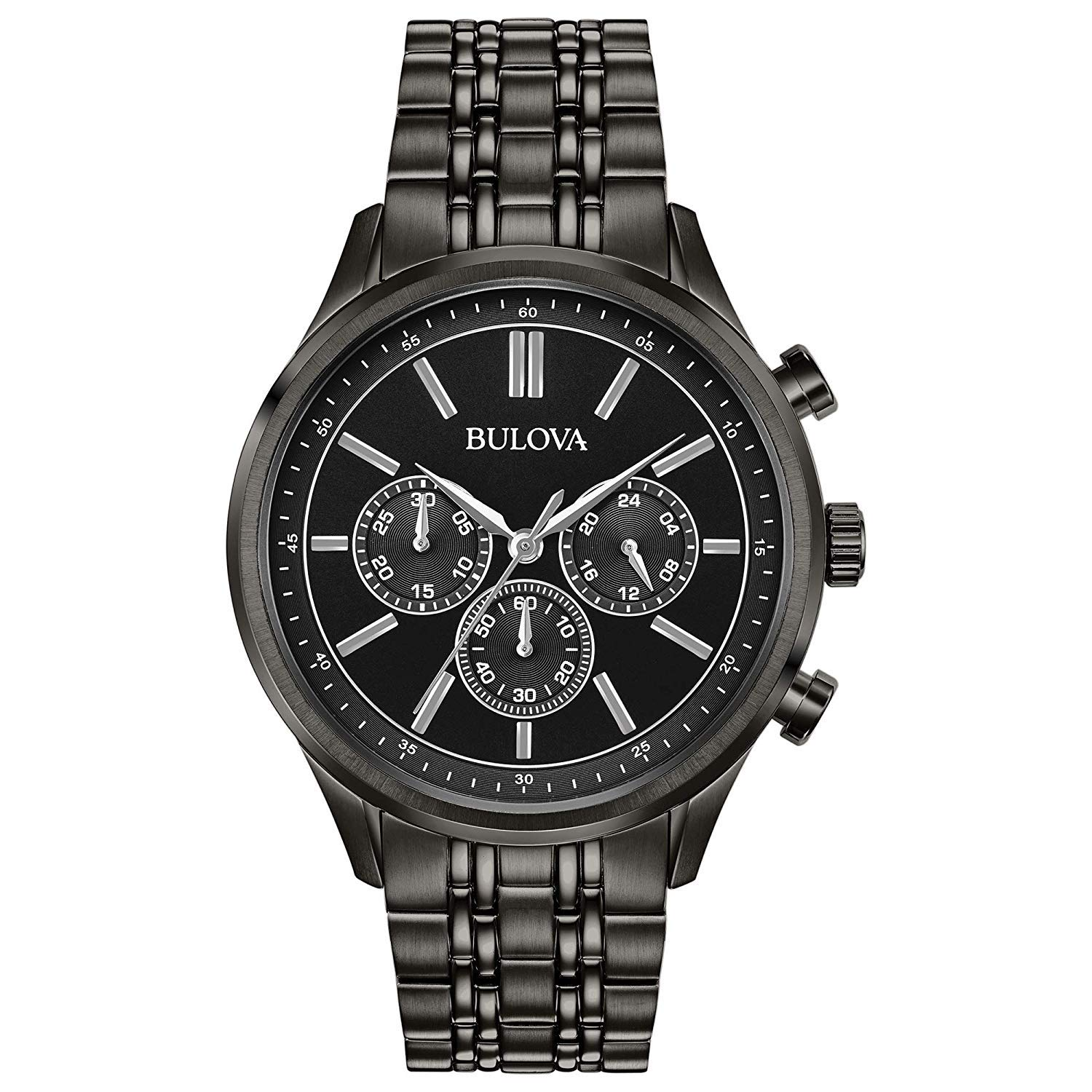 Bulova Mens Chronograph Quartz Watch with Stainless Steel Strap 98A217