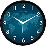 Dinine Craft® Plastic Wall Clock for Home and Wall Décor (Map)