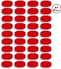 American-Elm 108 Pcs (3 Sheets) Waterproof Vinyl Stickers for Mason Jars, Glass Bottles, Decals Craft, Kitchen Jar Labels Bottle Stickers (Black, Blue, Red, White)