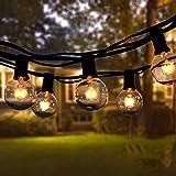Guirlande Lumineuse Intérieur et extérieur,VIFLYKOO Guirlande Guinguette de 30+5 Ampoules étanche 11M Blanc Chaud ampoule Déc