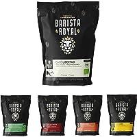 BARISTA ROYAL Kaffee Probierset ganze Bohne 5 x 350g | Kaffeebohnen Entdeckerpaket im Geschenkset | Arabica | fair…