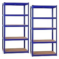 Stagecaptain HR-175 BU Heavyrack Scaffale ripiani in legno Blu, set 2 pezzi