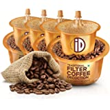 iD 100% Authentic Ready to Use, Instant Filter Coffee Decoction 30 Cups | 600ml Coffee Liquid (150ml x 4) | Add Hot Milk and