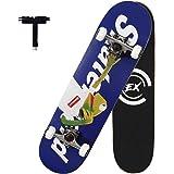 "Skateboard 31""x 8"" Pro Complete Standard Skate Boards for Girls Boys Beginner, 7 Layer Canadian Maple Double Kick Concave Ska"
