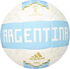 adidas World Cup Soccer Argentina Adult Unisex Official Licensed Product Argentina Ball, 5, White/Bold Blue/Red