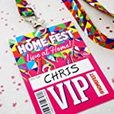 HOMEFEST Festival Party VIP Lanyard Favours ~ Home Fest Festival Birthday Party Bag Fillers ~ House Party VIP Pass…