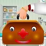 Enfants jeu de Docteur - guérir les malades à l'hôpital pour enfants; rendre sain et sourire à nouveau