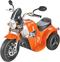Toyhouse Samurai Strike 8 Rechargeable Battery Operated Ride on Bike for Kids (2 to 4 Years), Orange