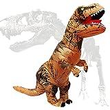 PARAYOYO T Rex Costume Dinosaure Gonflable Adulte Costume T-Rex Fantaisie Déguisé pour Halloween Brown