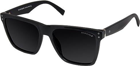 David Blake Black Wayfarer Polarized & UV Protected Sunglass - SGDB1422xP821MBLK|51 mm