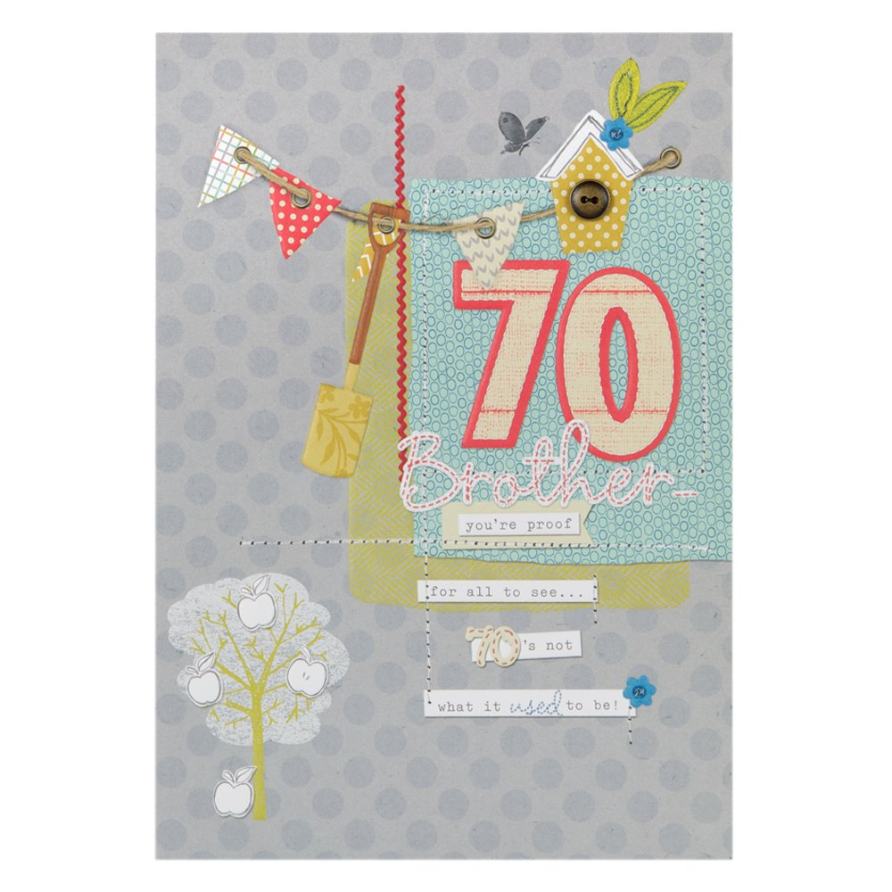 Hallmark 70th Birthday Card For Brother Grows More Special – Happy 70th Birthday Cards